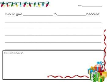 Christmas Present Writing Activity