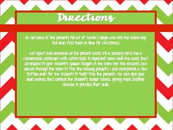 Christmas Presents Articulation Sensory Bin Activity