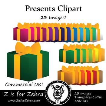Christmas Presents Clip Art - CU Ok { Z is for Zebra }