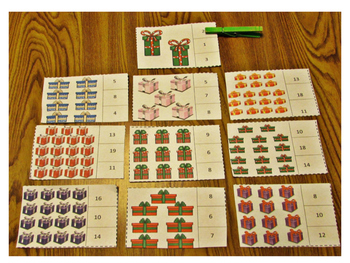 Christmas Count and Clip Kindergarten Math Special Education Math Fine Motor