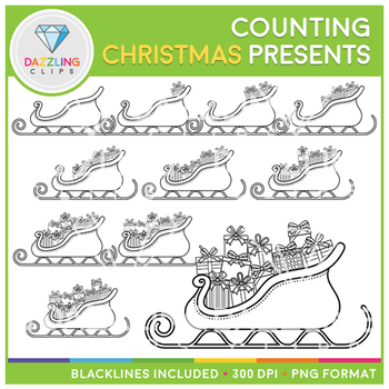 Christmas Presents Counting Clip Art