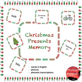 Christmas Presents Memory Game