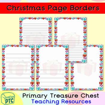 Christmas Page Border.Christmas Presents Page Border Writing Frames
