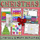 No Prep Christmas Activities | Christmas Math | Christmas Literacy