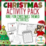 Christmas Print and Go Activity Pack ELA Resources