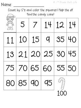 Christmas ELA and Christmas Math Activities