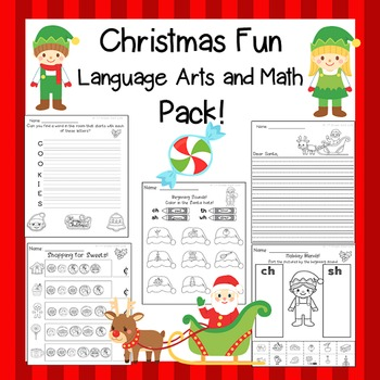 Christmas ELA and Christmas Math Activities