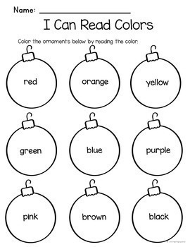 Christmas Printables No Prep Print and Go