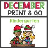 December Print and Go No Prep