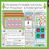 Christmas Printable Activities for Preschool and Kindergarten