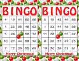 Christmas Printable Bingo Game - 100 players - Red Green O