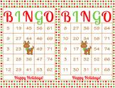 Christmas Printable Bingo Game - 100 players - Red Green R
