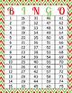 Christmas Printable Bingo Game - 100 players - Red Green Santa Claus Bingo CH012