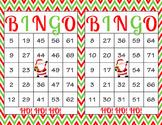 Christmas Printable Bingo Game - 100 players - Red Green S