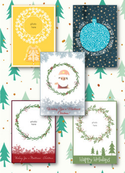 Christmas Printable Cards and Photo Booth Props