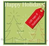 Christmas Printable Gift Tags Bulletin Board Holiday Note Border