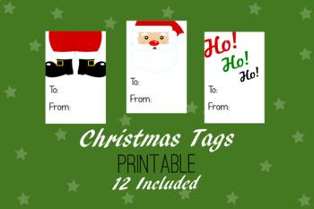Christmas Printable, Party Tags, Variety - Christmas Gift Tags
