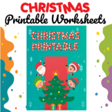 Christmas Printable Worksheets, Handwriting, Coloring, Num