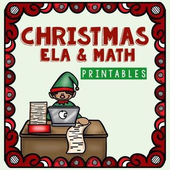 Kindergarten Christmas Printables for Math and ELA