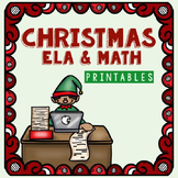 Kindergarten Christmas Worksheets for Math and ELA