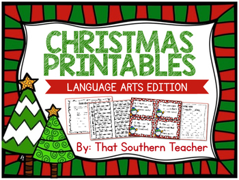 christmas printables language arts edition by that southern teacher. Black Bedroom Furniture Sets. Home Design Ideas