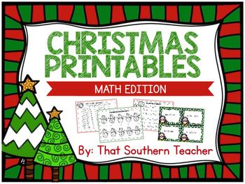 Christmas Printables - Math Edition