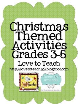 Christmas grades 3 5 teaching resources teachers pay teachers christmas math and ela printables grades 3 5 fandeluxe Choice Image