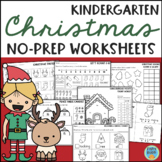 Christmas Worksheets for Kindergarten Math and Reading NO PREP