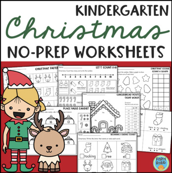 Christmas Math Worksheets Kindergarten Teachers Pay Teachers - 35+ Holiday Worksheets For Kindergarten Pictures