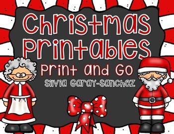 Christmas Printables Print and Go