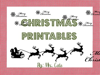 Christmas Printables (gift tags, notecards, thank you notes) by A Cate