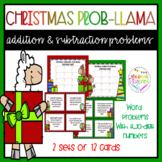 Christmas Prob-llama Addition and Subtraction Two digit Word Problems
