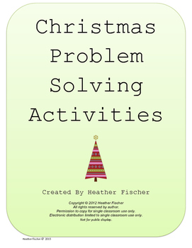 Christmas Problem Solving - 4th Grade Math Common Core-journal problems