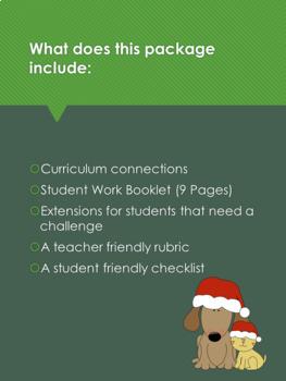 Christmas Problem Solving Challenge- Grade 2 Math- Alberta