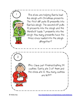 Christmas Problem-Solving Task Cards