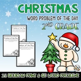 Christmas Word Problem of the Day for 2nd Grade