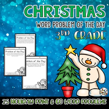 Christmas Word Problem of the Day 3rd Grade