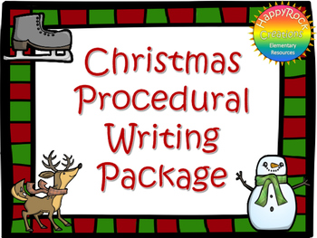Christmas Procedural Writing Package