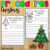 Christmas Worksheets Procedures