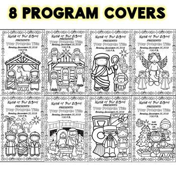 Christmas Program Covers  (Religious Themed)