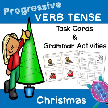 Progressive Verb Tense - Christmas