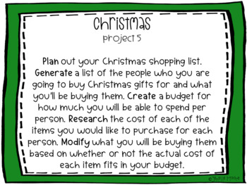 Christmas Project-Based Learning & Enrichment for Literacy, Math and STEM