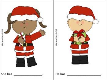 Christmas Pronoun Practice