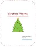 Christmas Pronoun Sort/Task Cards