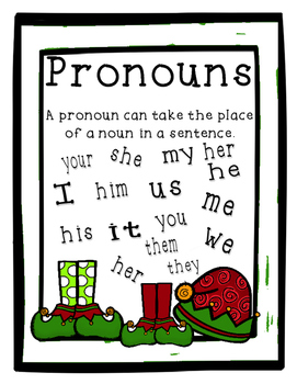 Christmas Pronouns Activity Pack - Task Cards and More