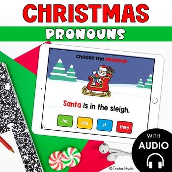 Christmas Pronouns Boom Cards