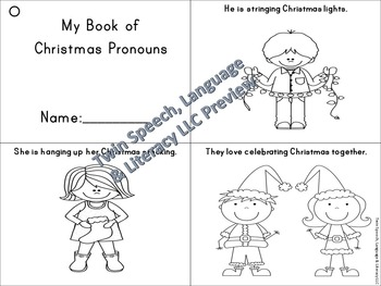 Pronoun Christmas Grammar Unit: he, she, they, him, her/s, his, their/theirs