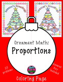 Christmas Math Holiday Math Proportions Color by Number Surprise Activity