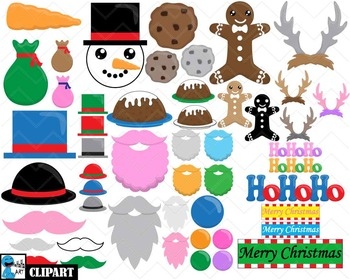 Christmas Props - Clip Art Digital Files Personal Commercial Use cod232