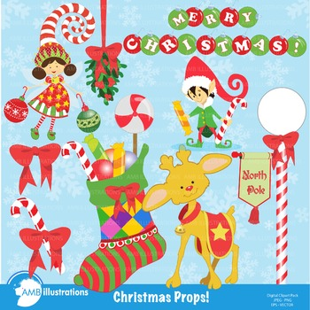 Christmas Props clipart, AMB-168